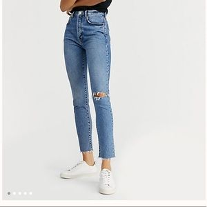 High waisted 5 button Free People Jeans